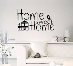 home sweet home decoration home sweet home with house and two bird removable vinyl decor