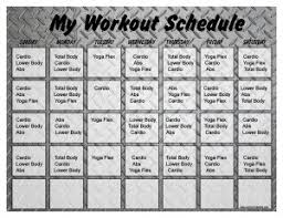 10 minute workout schedule print a workout calendar