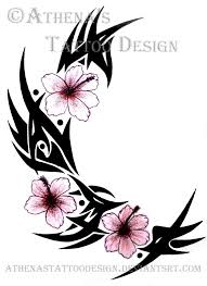tribal hibiscus by athenastattoodesign on deviantart