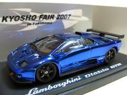 blue lamborghini diablo 1 43 kyosho lamborghini diablo gtr diecast blue chrome fair