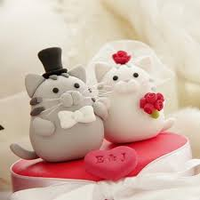 cat cake topper cat wedding cake toppers