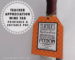 halloween gift ideas for teachers printable teacher tags teacher wine gift tags teacher