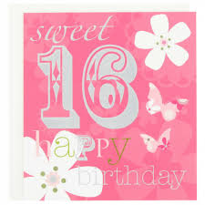 birthday card free sweet sixteen birthday card sayings happy