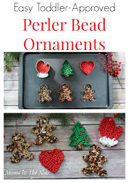 easy toddler approved perler bead ornaments easy ornaments fuse