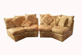 bernhardt sectional sofa octagon shaped sofa 70s 80s