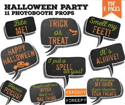 halloween photo booth props printable pdf halloween bubble speech party photo booth props set