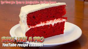 easy red velvet cake recipe by bakelikeapro youtube