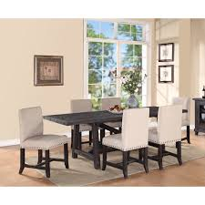 picket house flynn 7 piece parsons dining table set hayneedle