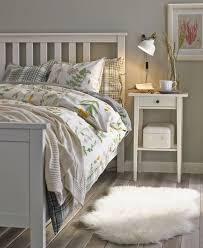 Ikea Bedrooms Furniture Hemnes Bed Frame White Stain Lönset Sleep Better Beautiful