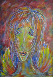 Olga\u0026#39;s Angel. 24 x 36 inches $1,500.00. Olga\u0026#39;s Living with Art John Snyder www.olgasnyder.com - lwsm_paintingredo-013_117