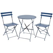 2 Chair Patio Set by Charles Bentley 3 Piece Metal Bistro Set Garden Patio Table 2