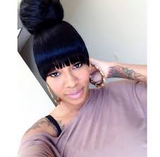 black hairstyles bun with bangs pictures black hairstyles ponytails with bangs black hairstle