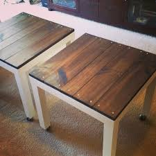 Diy Stand Up Desk Ikea by Lack Side Table Hack Wooden Tops Home Office Pinterest Ikea