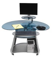 Computer Desks Amazon by Amazon Com Calico Designs Neptune Computer Desk In Silver Blue