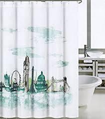 Amazon Com Shower Curtains - london shower curtain curtains wall decor
