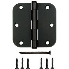 Mortise Interior Door Hardware Shop Gatehouse 12 Pack 3 5 In H Oil Rubbed Bronze 5 8 In Radius