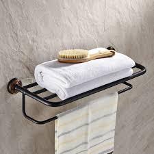 Oil Rubbed Bronze Bathroom Shelves by Oil Rubbed Bronze Towel Bar With Shelf K 101 Wholesale Faucet E