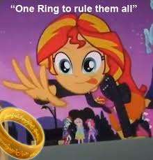 One Ring To Rule Them All Meme - 360573 equestria girls lord of the rings meme ring safe