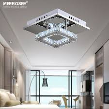 square led crystal chandelier light for aisle porch hallway stairs