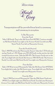 wedding invitation directions card wedding invitation directions