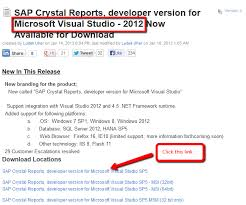 download crystal reports for visual studio 2012
