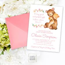 Gift Card Baby Shower Invitations Teddy Bear Baby Shower Invitation James 1 17 Every Good And