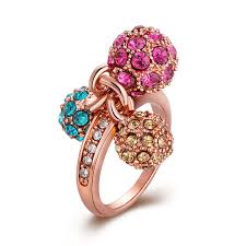 jewelry large rings images Luxury celebrity large cubic zirconia rings for women trendy jpg