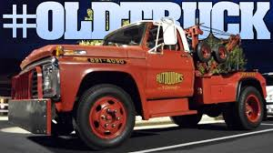 Ford Vintage Truck - old ford tow truck at the