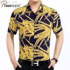 Hawaii Travel Shirts images 2018 wholesale summer floral print viscose man shirts short sleeve jpg