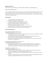 Sample Of Nursing Assistant Resume by Free Certified Nursing Assistant Cna Resume Template Sample