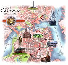 Boston Street Map Boston Freedom Trail Map 50 Shades Of Age