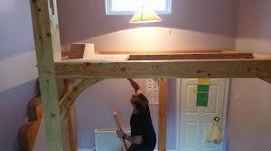Timber Frame Bed Timber Frame Mezzanine Floor High Loft Bed Time Lapse Installation