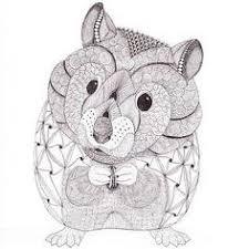 Coloriage mandala hamster  1001 Animaux