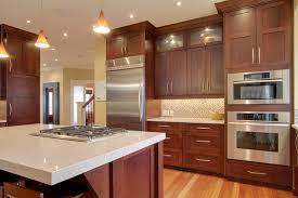 kitchen cherry cabinets cherry kitchen traditional kitchen calgary by nexs