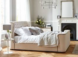 brussels natural fabric bed frame dreams