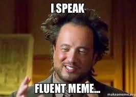 Meme Speak - i speak fluent meme fluent meme make a meme