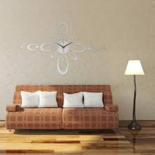 Large Wall Clocks by Modern Acrylic Mirror Surface Diy Large Wall Clock Sticker Home