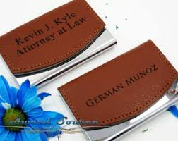 Leather Personalized Business Card Holder Personalized Business Card Holder Leather Business Card
