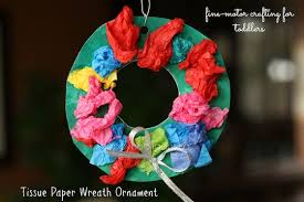 tissue paper wreath ornaments for happy hooligans