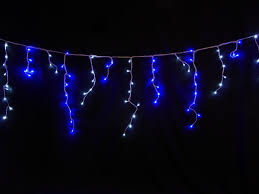 white led icicle lights light up 180 bright blue and white led snowing icicle lights
