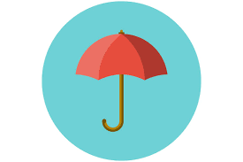 open and folded black umbrella objects creative market