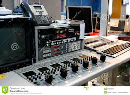 Studio Mixer Desk by Video Mixing Desk Stock Photography Image 23387802
