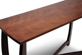 Cherry Wood Sofa Table Straitwoode Cherry And Dark Brown Modern Sofa Table Affordable