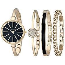 anne klein bracelet set images Anne klein women 39 s ak 1470gbst gold tone watch and jpg