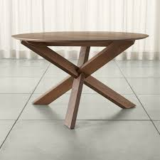Apex  Round Dining Table Round Dining Table Table Seating - Counter height dining table crate and barrel