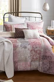 buy cotton patchwork digital print bed set from the next uk online