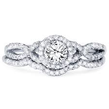 infinity wedding rings diamond 70ct infinity engagement ring wedding band set