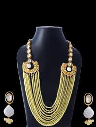 multi layer beaded necklace images Designer stone bead multi layer necklace set at rs 2630 piece jpg