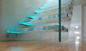 super modern glass staircase designs with floating floors