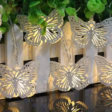 shop 1 65m 10led warm white butterfly ornaments lights for